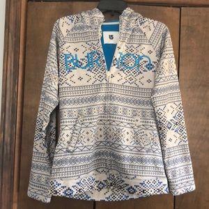 Burton hooded zip up sweatshirt